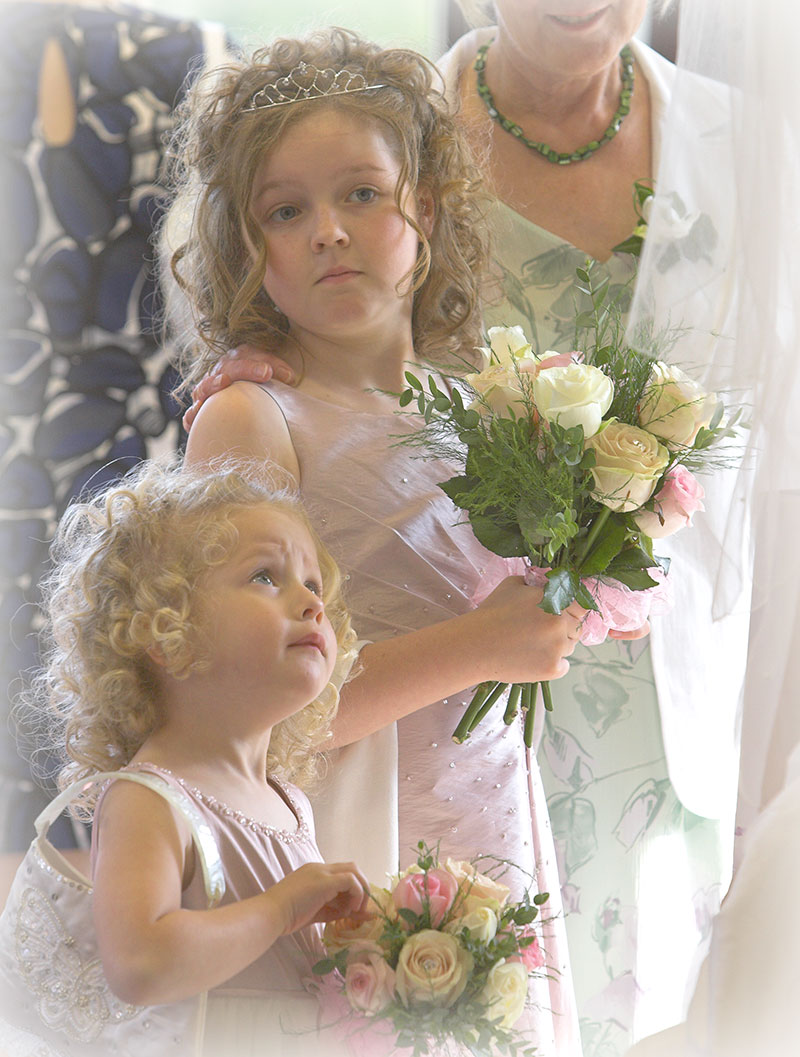 Two cute bridesmaids at a Stamford wedding