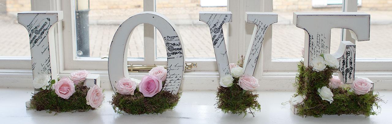 L O V E wedding sign
