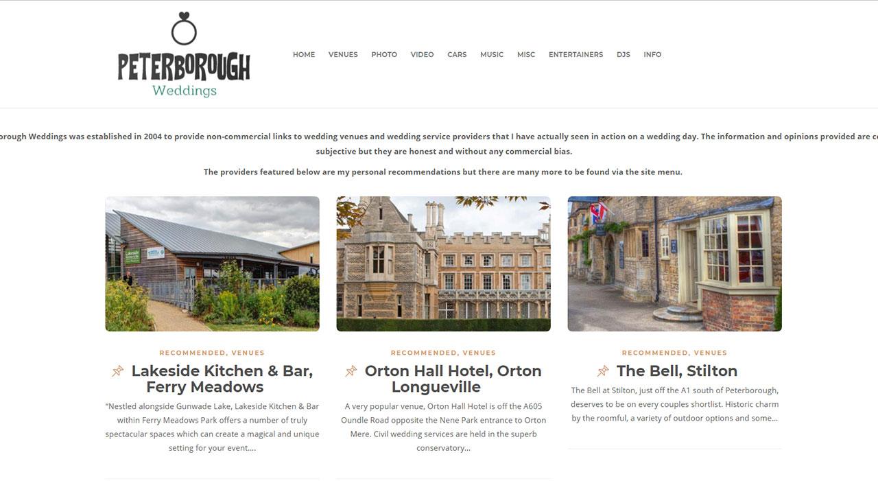 Peterborough Weddings Website