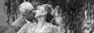 Kissing Couple in Monochrome