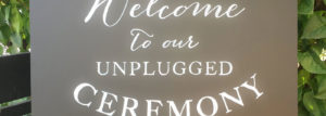 Unplugged Wedding Notice Board
