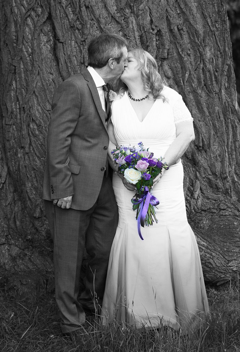 Couple kissing at a Peterborough wedding venue