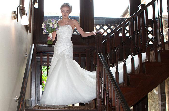 Wedding Photographer - Bell @ Stilton - staircase