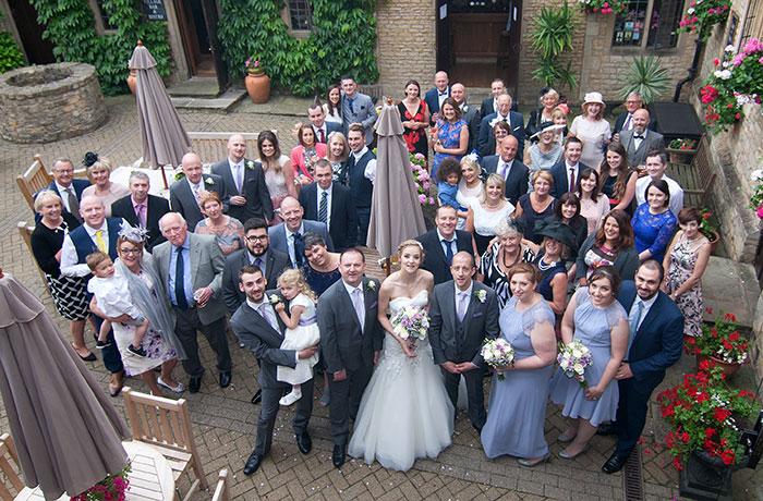 Wedding Photographer - Bell @ Stilton - Balcony Shot