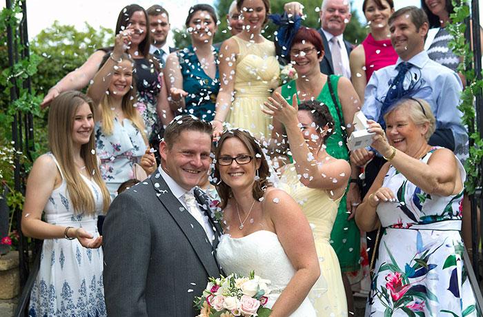 Wedding Photographer - Bell @ Stilton - Confetti Shot