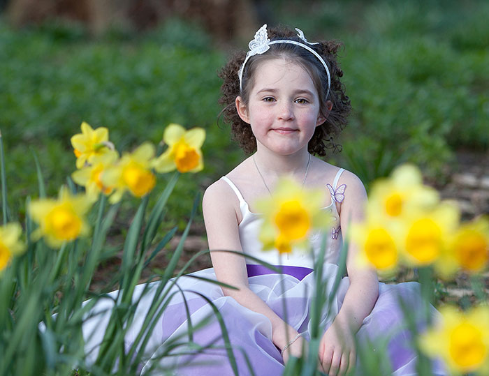 Orton Hall wedding photographer - daffodils