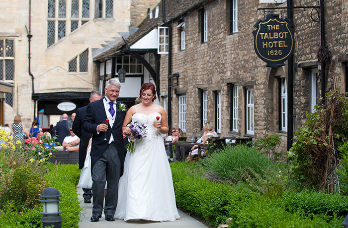 Talbot Hotel Wedding Photographer - Courtyard Residents