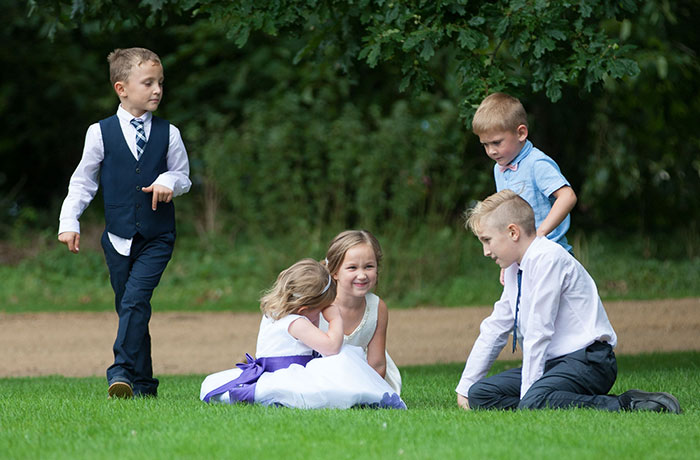 Sibson Inn Wedding Photographer - Kids at Play