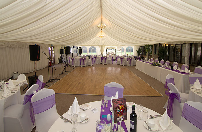 Sibson Inn Wedding Photographer - Marquee Room
