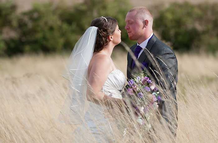 Sibson Inn Wedding Photographer - Summer Meadow Kiss