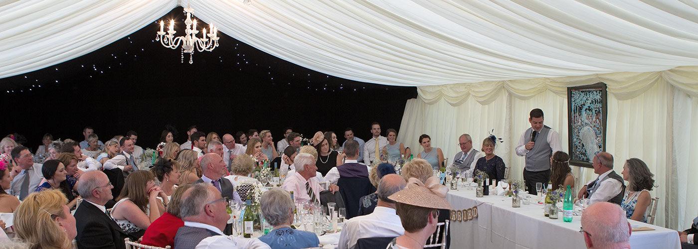 Market Deeping Wedding Photographer - marquee wedding